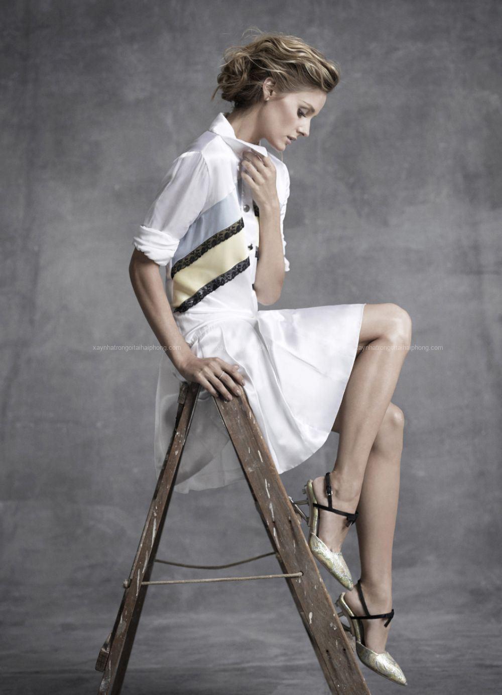 olivia palermo in jez smith photoshoot for harper s bazaar australia november 2014 3 - Two Chairs, Lots of Minimalism