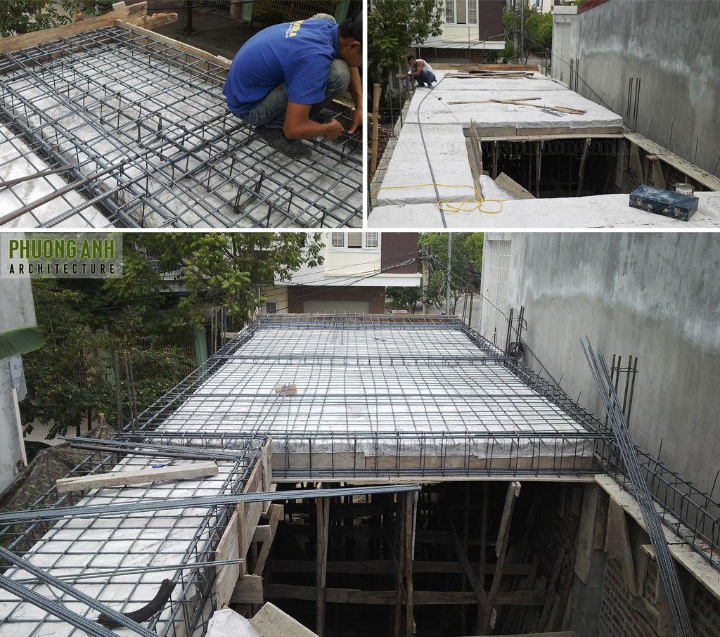 Đan sắt đổ mái tầng 1 với mục tiêu chất lượng - an toàn
