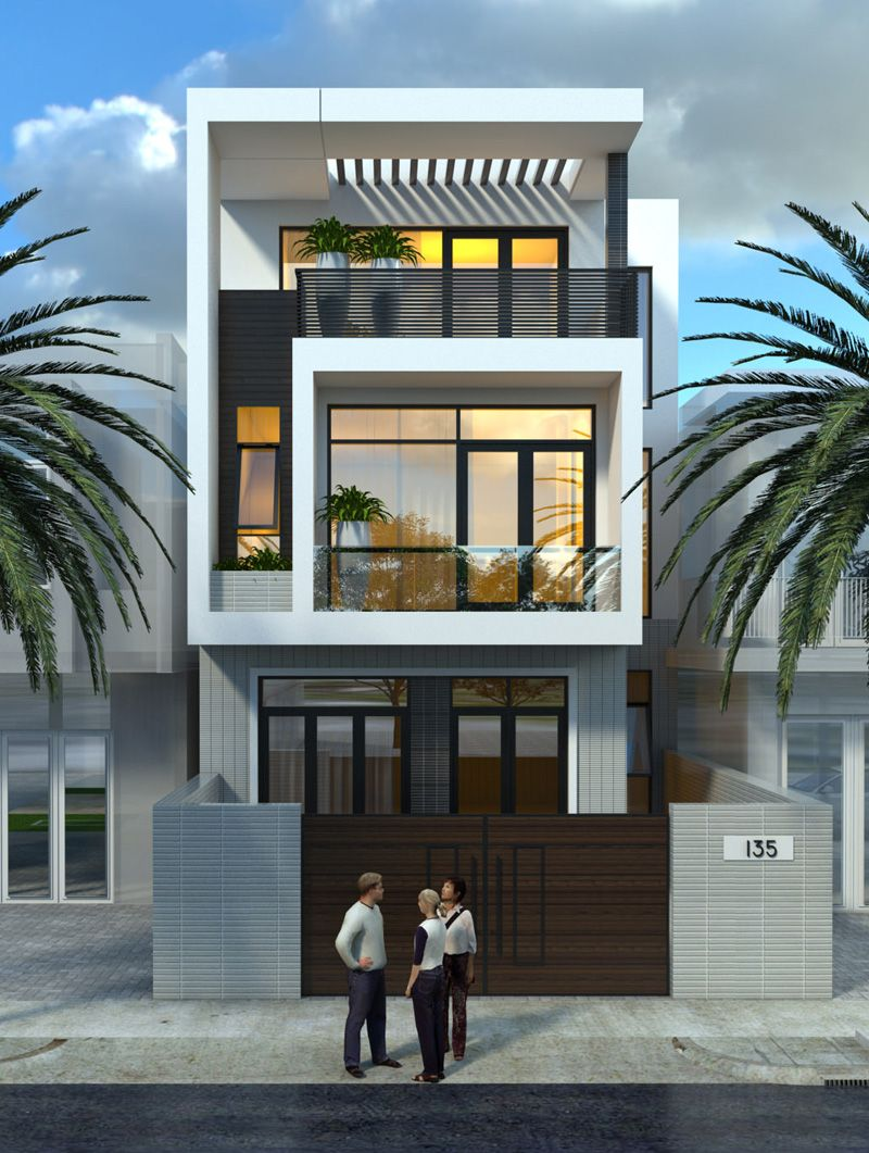 Mẫu nhà đẹp 3 tầng phong cách hiện đại