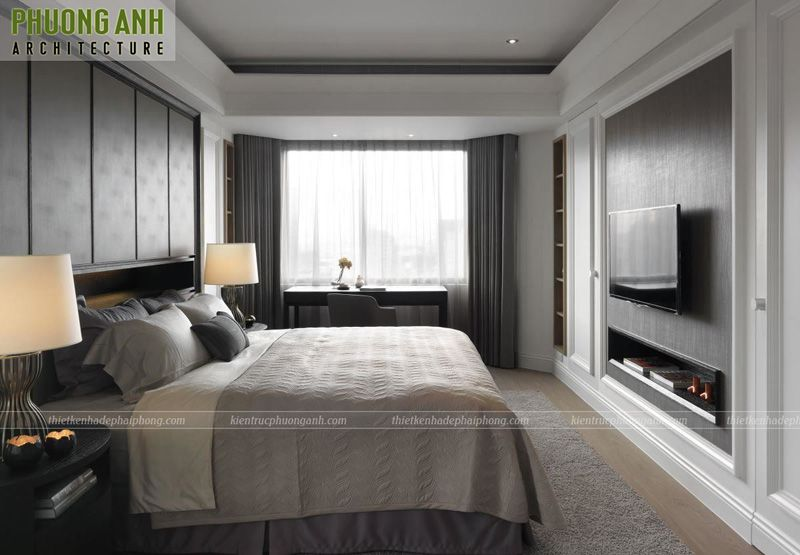 Hoàn thiện nội thất phòng ngủ chung cư SHP Plaza