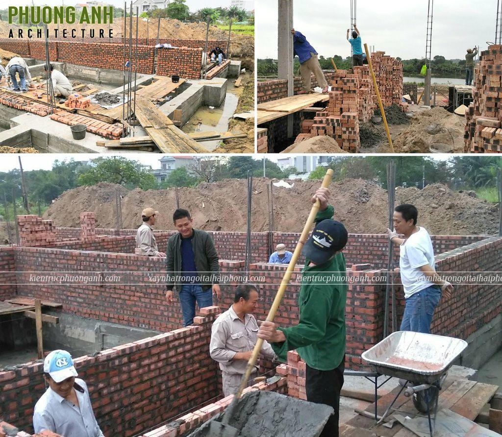Khẩn trương thi công xây tầng 1 đảm bảo tiến độ và chất lượng công trình