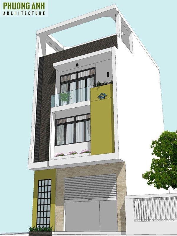 Mẫu thiết kế nhà phố 4 tầng tại Văn Cao Hải Phòng