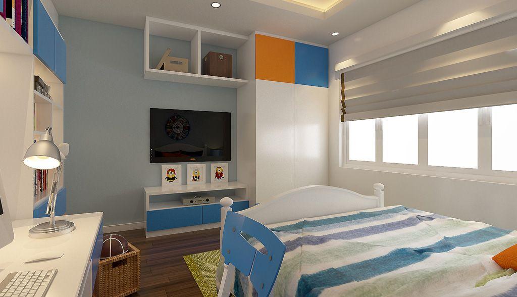 Mẫu thiết kế nội thất phòng ngủ bé trai cá tính