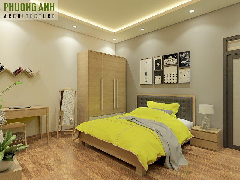 Mẫu thiết kế phòng ngủ diện tích nhỏ hẹp 12m2