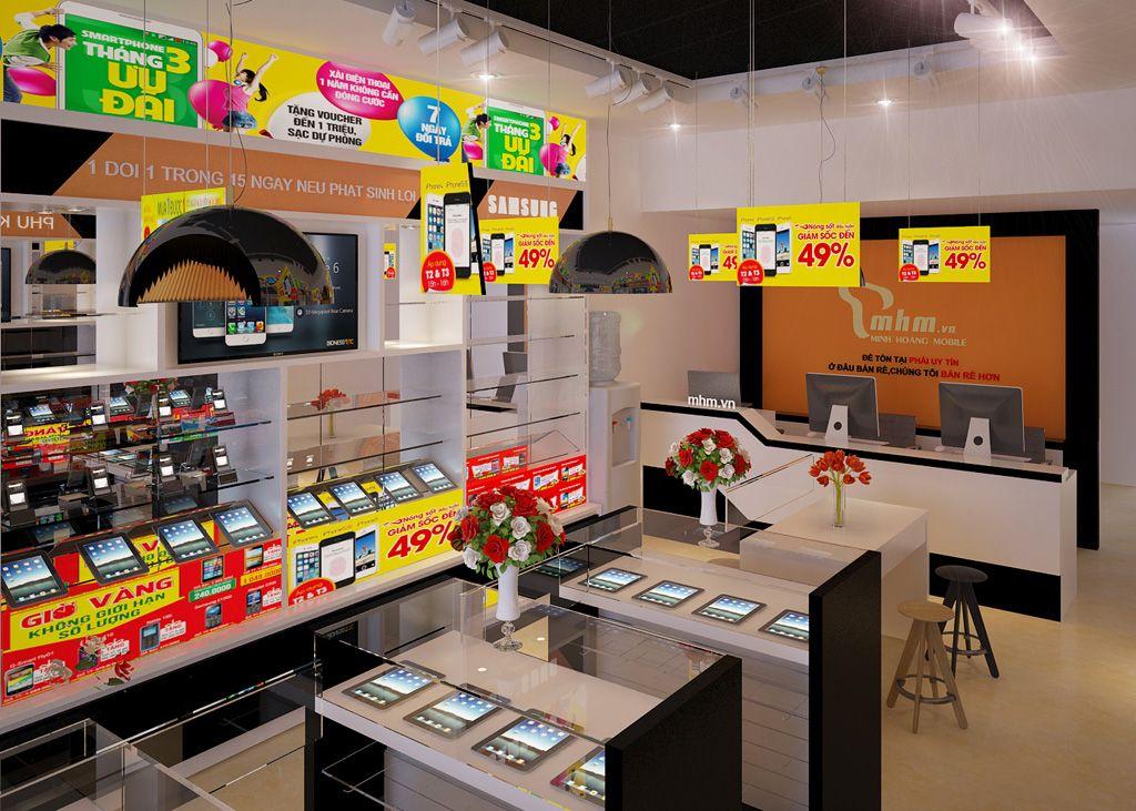 Thiết kế shop điện thoại - Thi công nội thất Hải Phòng