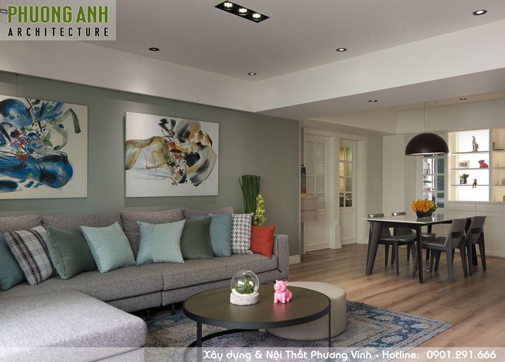 thiet ke noi that phong khach - Thiết kế nội thất chung cư Sky Garden | Cải tạo chung cư