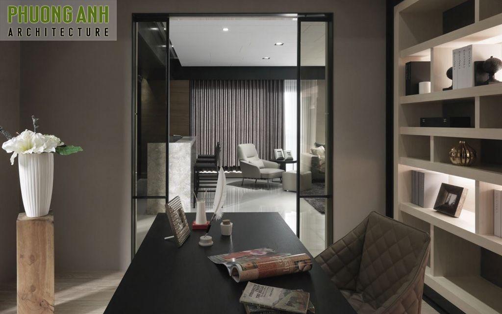 thiet ke noi that phong lam viec - Thiết kế nội thất chung cư hiện đại Mipec Riverside