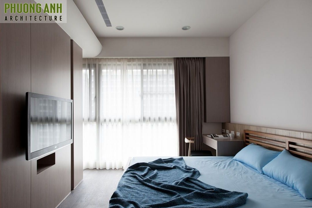 thiet ke noi that phong ngu chung cu SHP Plaza - 18 Mẫu thiết kế nội thất phòng ngủ đẹp hiện đại 2020