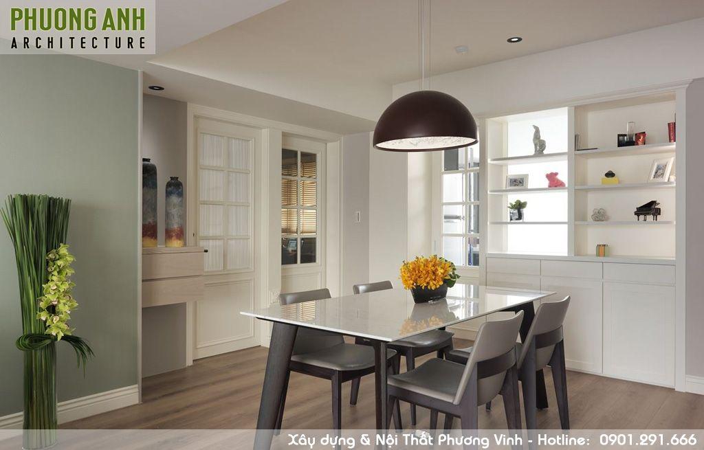 thiet ke phong an - Thiết kế nội thất chung cư Sky Garden | Cải tạo chung cư