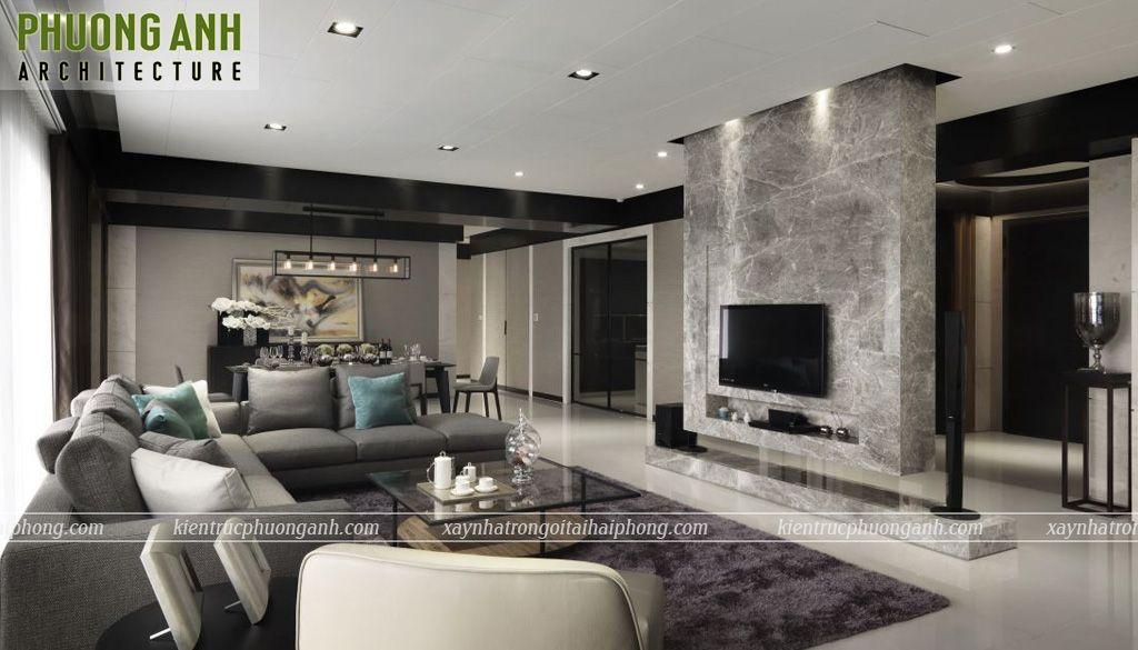 thiet ke thi cong noi that chung cu hien dai sang trong - Thiết kế nội thất chung cư hiện đại Mipec Riverside