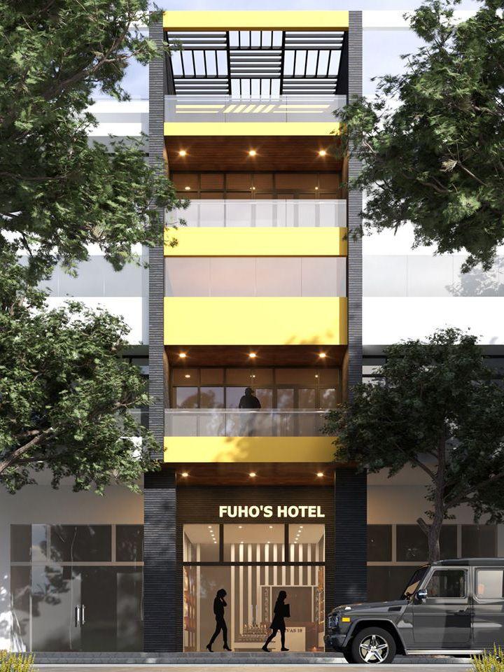 Mau nha 5 tang dep kinh doanh nha nghi - Mẫu nhà 5 tầng đẹp mặt tiền 5m kết hợp kinh doanh